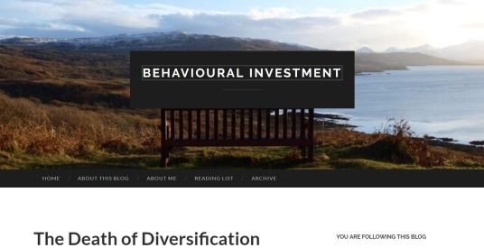 The Death of Diversification
