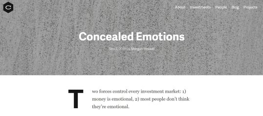Concealed emotions