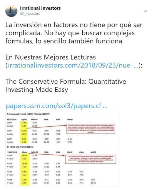 La inversión en factores